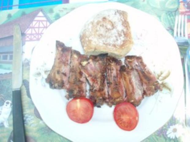 Spare Ribs vom Grill (Smookey) Zuckermais und Salat - Rezept - Bild Nr. 3