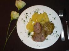 Rouladen vom Spitzkohl mit Hackfleisch und Kasselerwürfeln - Rezept