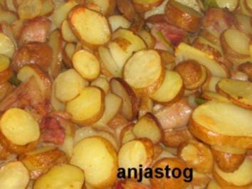 Frühkartoffeln mit Speck - Rezept
