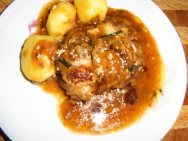Zuccini-Fleisch- Röllchen - Rezept