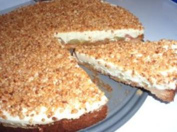 Torte: Rhabarber-Creme-Torte - Rezept