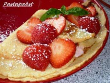 Erdbeer Crèpes - Rezept