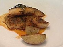 Marinierter Viktoriabarsch an Safran-Zitronen-Koriander-Soße - Rezept