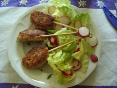 Lachs-Brot-Spiessli - Rezept