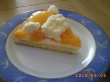 Kuchen: Schneller Pfirsichkuchen mit Kokos-Sahne - Fotos sind on - Rezept