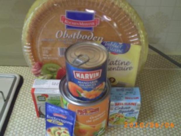 Kuchen: Schneller Pfirsichkuchen mit Kokos-Sahne - Fotos sind on - Rezept - Bild Nr. 2