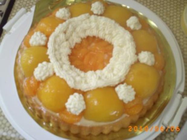 Kuchen: Schneller Pfirsichkuchen mit Kokos-Sahne - Fotos sind on - Rezept - Bild Nr. 6