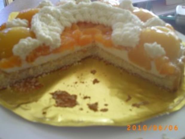 Kuchen: Schneller Pfirsichkuchen mit Kokos-Sahne - Fotos sind on - Rezept - Bild Nr. 7