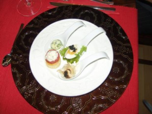 Delightful Feine Löffelvorspeise Amuse Gueule Gruß Aus Der Küche ...