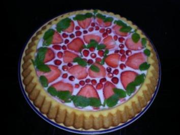 Erdbeer Holunder Torte - Rezept