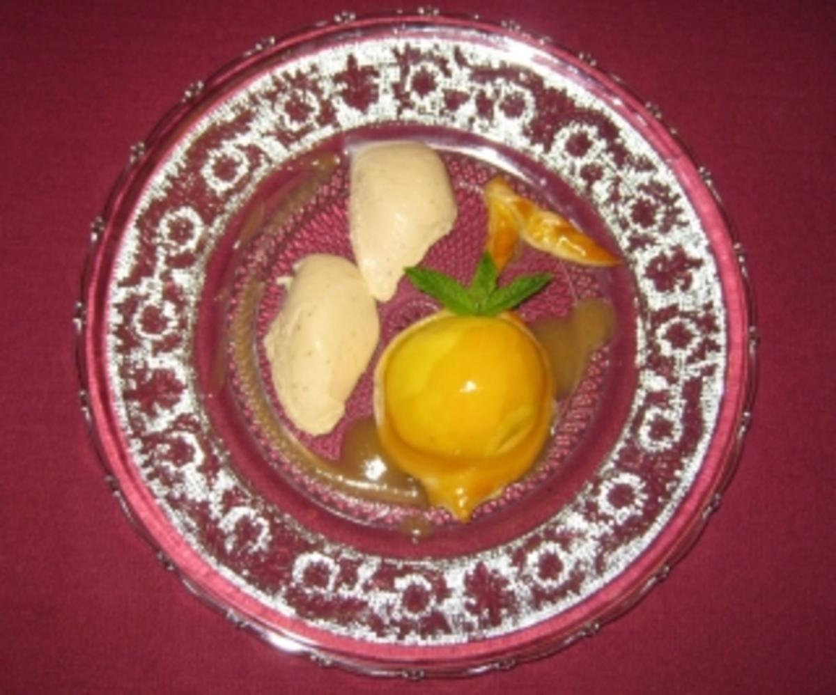 Gebackener Pfirsich mit Schokoladen-Tonkabohnen-Mousse - Rezept Durch Das perfekte Dinner
