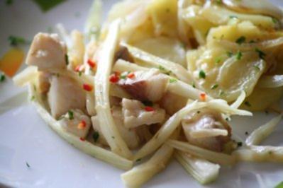 Fischfilet mit Knoblauch und Chili aus dem Wok - Rezept
