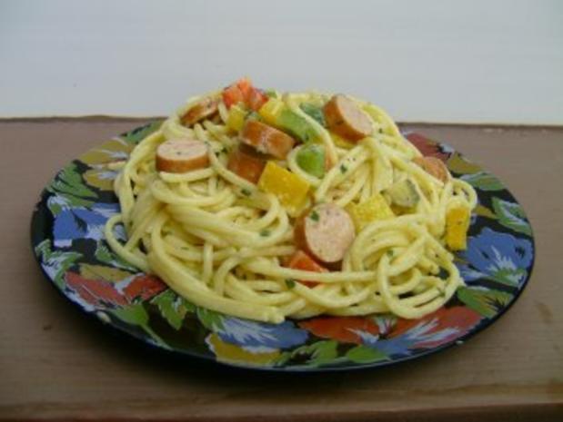 Spaghettisalat mit Pesto - Rezept
