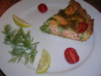 Lachs-Kräuter-Quiche - Rezept