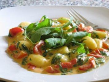 Gnocchi mit Rucolasauce - Rezept