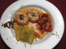 Seeteufel mit Alici, Chorizo-Emulsion und Chili-Kartoffeln - Rezept
