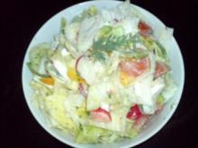 Reste-Reste-Schicht-Salat - Rezept