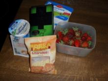 Dessert: Quark-Schoko-Creme mit Erdbeerkompott - Rezept