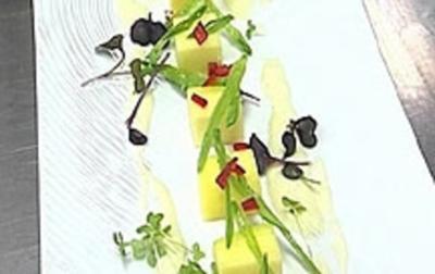 Mangosalat mit Zuckerschoten - Rezept