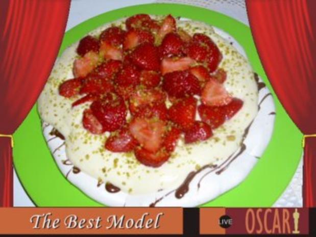Erdbeer-Pavlova mit Vanillequark - Rezept - Bild Nr. 2
