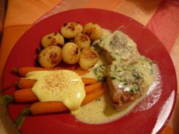 Putenschnitzel mit Käsesoße - Rezept