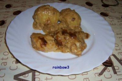 Rezept: Auflauf: Putenschnitzel mit Sahnesauce