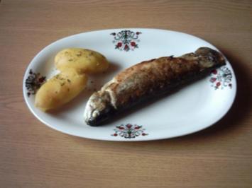 Forelle gegrillt mit Gemüsecremefüllung - Rezept