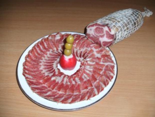 Wursten: Coppa - Rezept