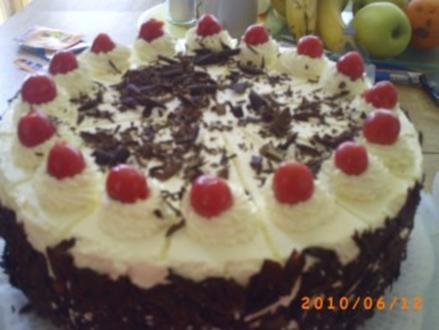 Torten: Die ..... zigeste Schwarzwälder Kirschtorte - Rezept