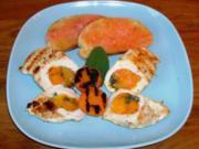 Hähnchenbrustfilet mit Aprikosenfüllung – dazu Tomatenröstbrot - Rezept