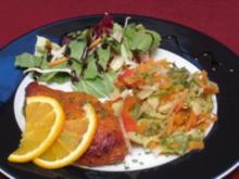 Orangen-Hähnchenbrust an Mischgemüse - Rezept