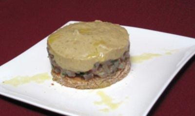 Tunfischtatar mit Auberginenpüree und Limetten-Emulsion - Rezept