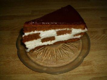 Schachbrett-Torte - Rezept