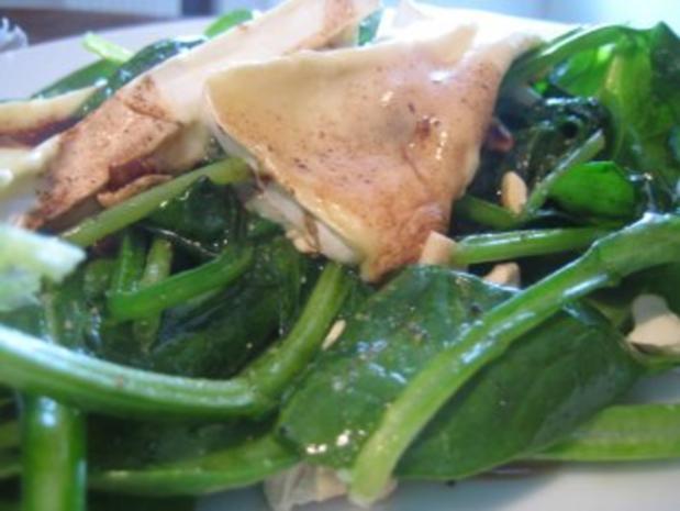 Spinatsalat mit gebratenem Brie - Rezept - Bild Nr. 2
