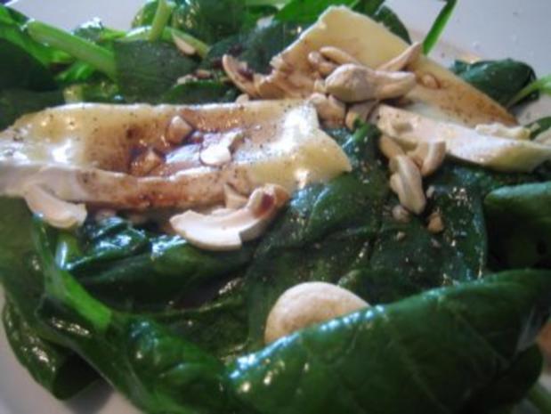 Spinatsalat mit gebratenem Brie - Rezept - Bild Nr. 3