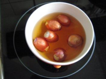 Süßsaure Zwiebelchen - Rezept