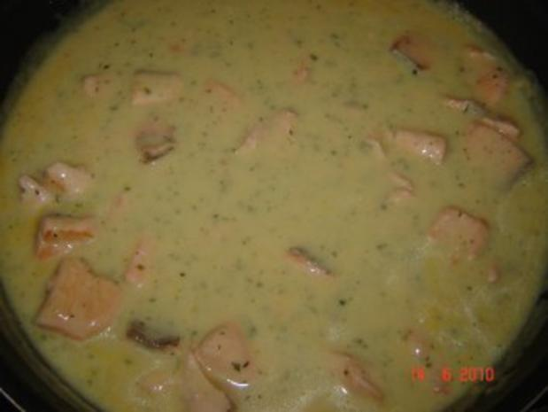 Fisch : Lachs in Sahneauce mit Tagliatelle - Rezept - Bild Nr. 6