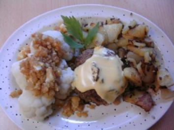 Gynie,s Beefsteak gefüllt mit Ei,überbacken mit Sauce Hollandaise - Rezept