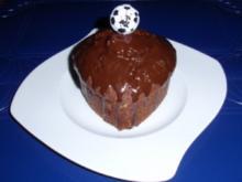 Kleine Schoko-Nuss-Herzkuchen - Rezept
