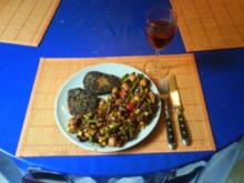 Geflügel: Putenhacksteak mit mexikan. Gemüse - Rezept