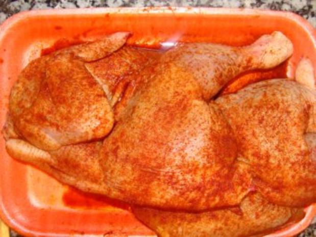 Geflügel : -Hähnchen aus dem Ofen- - Rezept - Bild Nr. 2