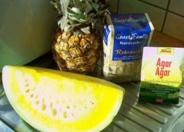 Rezept: Einmachen: Ananas-Melonen-Marmelade