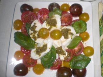 Tomaten rot gelb grün - Rezept