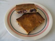 BLECHKUCHEN - Quarkkuchen ohne Boden mit Cranberries - Rezept