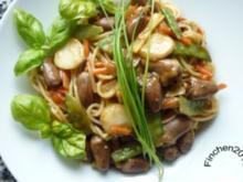 Asiatisches Gemüse-Herz trifft italienische Pasta - Rezept