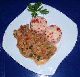 Filet-Pfanne mit Paprikareis - Rezept