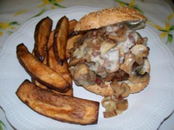 Champignon-Käse-Burger - Rezept
