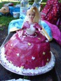 Kindergeburtstagstorte- Barbie Torte - Rezept