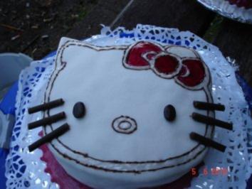 Kindergeburtstagstorte Hello Kitty - Rezept