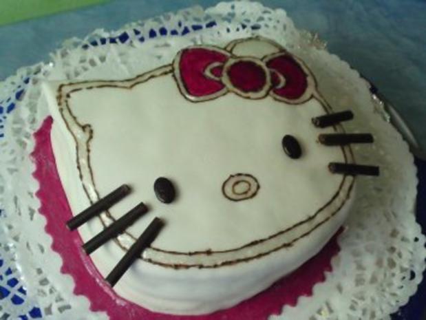Kindergeburtstagstorte Hello Kitty - Rezept - Bild Nr. 2